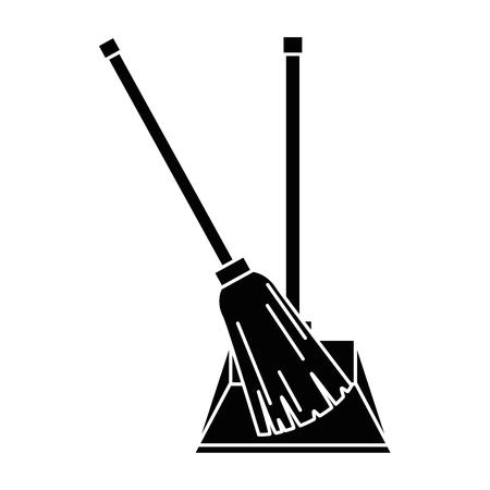 garbage picker with broom vector illustration design Ilustração