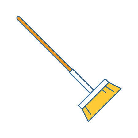 sweep broom isolated icon vector illustration design