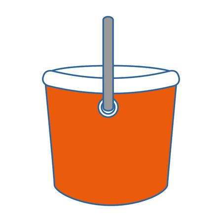 プラスチックバケツ孤立したアイコンベクトルイラストデザイン