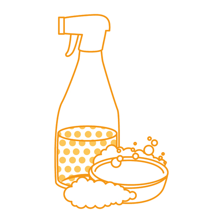 household cleaning product spray bottle with soap vector illustration design Фото со стока - 97267008