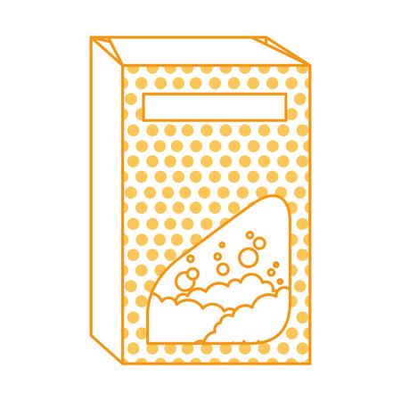 powder detergent box product vector illustration design Ilustrace