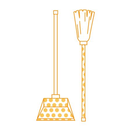 garbage picker with mop vector illustration design Archivio Fotografico - 97267009
