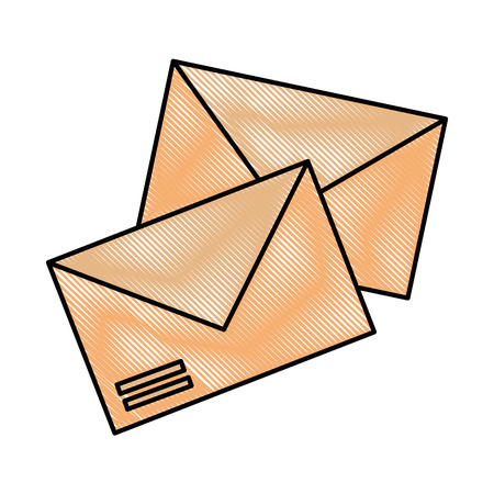 envelopes mail isolated icon vector illustration design