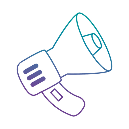 Isolated illustration of a megaphone on a white background