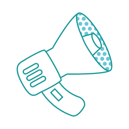 Isolated illustration of a megaphone with circle patterns inside on a white background