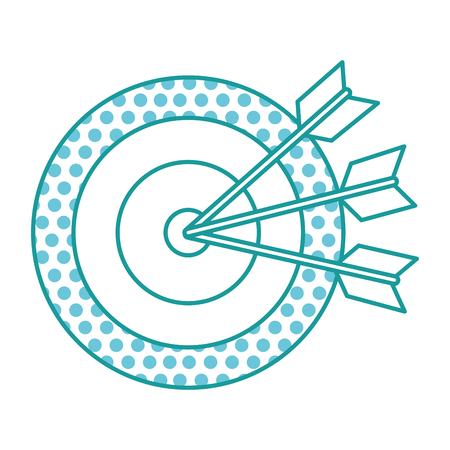 中央に矢印を付け、境界線に円パターンを持つターゲット