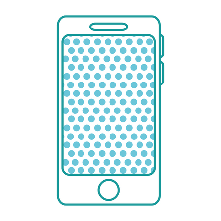 Illustration of smartphone device with circles patten on the screen