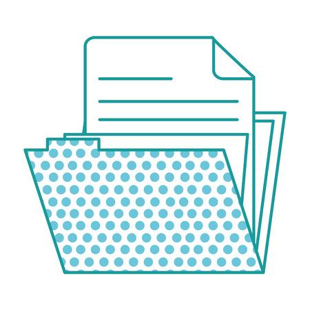 Open file folder illustration with circles pattern on folder