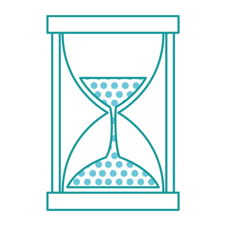 Hourglass illustration with a circles pattern on a white background