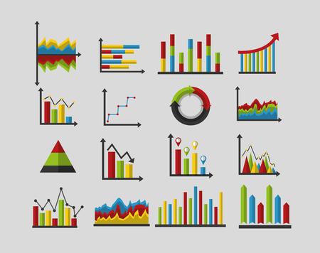 statistieken analyse gegevens strategie zakelijke grafieken vector illustratie