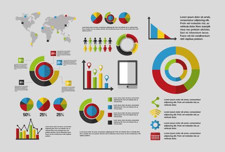 business statistics graph demographics population chart people infographic report vector illustration