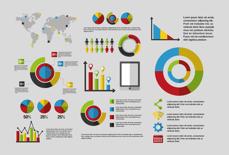 business statistics graph demographics population chart people infographic report vector illustration