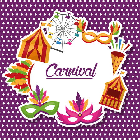 carnival fair celebration festive image vector illustration  イラスト・ベクター素材
