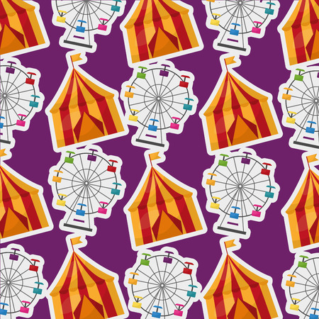carnival tent circus enjoy festive background vector illustration Illustration