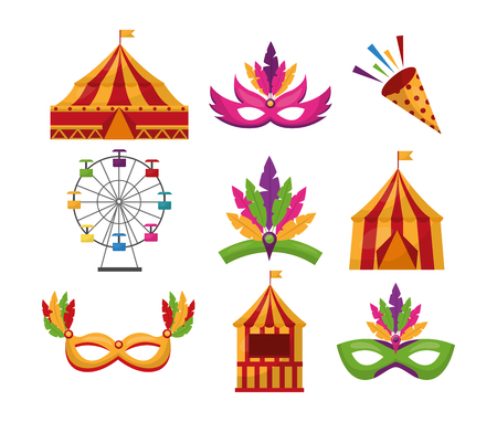 カーニバルフェアお祝いのお祝いの画像ベクトルイラスト  イラスト・ベクター素材