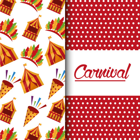 carnival fair celebration festive image vector illustration Ilustracja