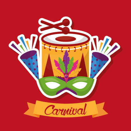 carnival festive musical event party vector illustration