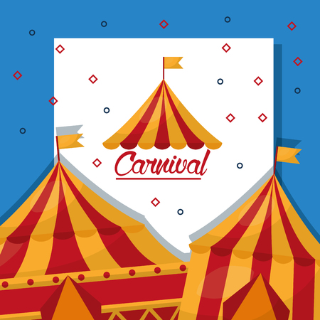 carnival fun fair tent festival vector illustration