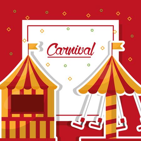 카니발 재미 박람회 텐트 축제 벡터 일러스트 레이션 스톡 콘텐츠 - 97336979