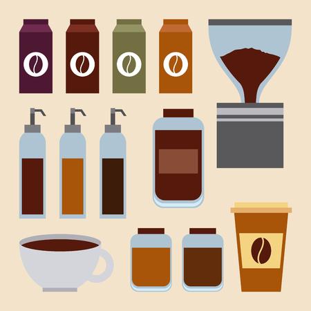 コーヒーセット食材ソースレストランイメージ