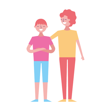 People male character men friends vector illustration