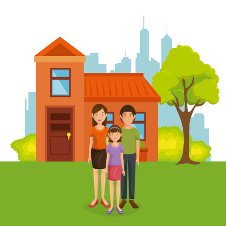 family members away from home vector illustration design Stock Vector - 97401693