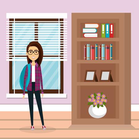 family member in the living room vector illustration design 일러스트