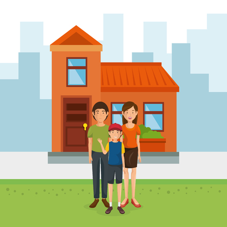 family members away from home vector illustration design Illustration