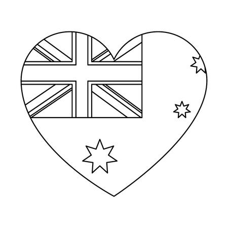 English flag with heart shape vector illustration design 일러스트