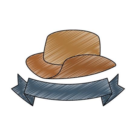 cowboy hat isolated icon vector illustration design Illustration