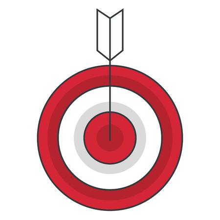 target with arrow icon vector illustration design Çizim