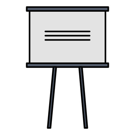 Paperboard training isolated icon vector illustration design.