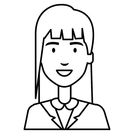beautiful businesswoman avatar character vector illustration design Reklamní fotografie - 97403003