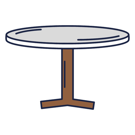 round table wooden isolated icon vector illustration design Ilustração