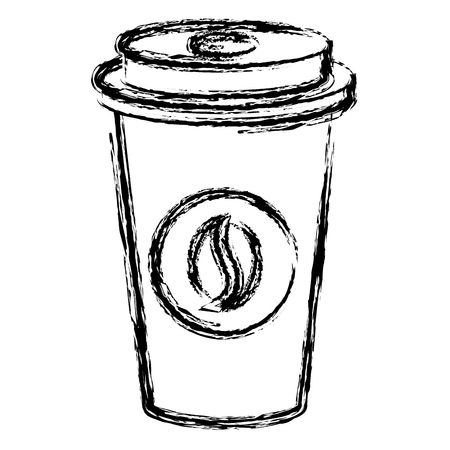 coffee in plastic cup vector illustration design