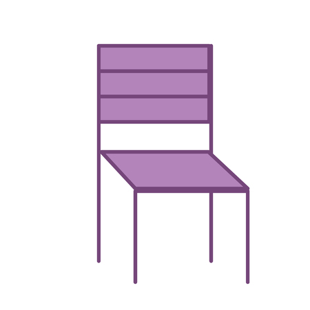 Wooden chair furniture decoration vector illustration Çizim