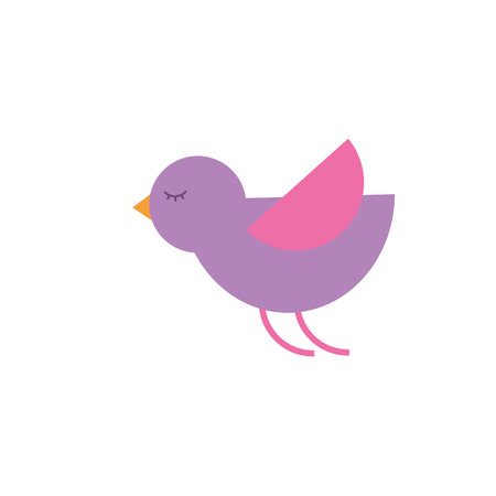 cute cartoon flying bird animal vector illustration