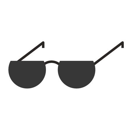 sunglasses summer accessory fashion icon vector illustration  イラスト・ベクター素材