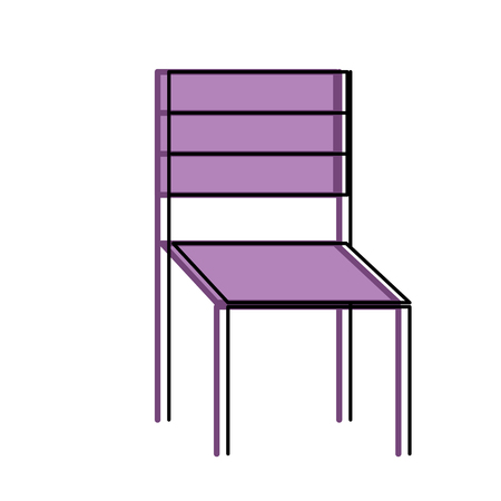 wooden chair furniture outdoors decoration vector illustration
