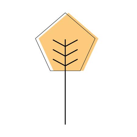 漫画幾何学木自然春のコンセプトベクトルイラスト  イラスト・ベクター素材