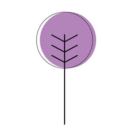 Cartoon geometric tree nature spring concept vector illustration  イラスト・ベクター素材