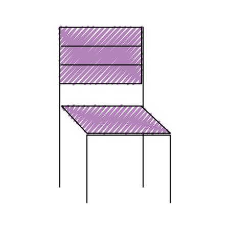 木製チェア家具屋外装飾ベクトルイラスト描画カラー画像  イラスト・ベクター素材