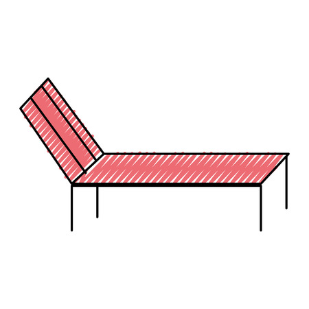 Beach sun lounger chair comfort vector illustration drawing color image Illustration