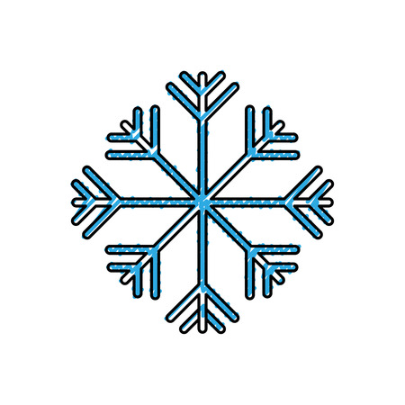 Winter season snow frost image vector illustration drawing color image Illustration