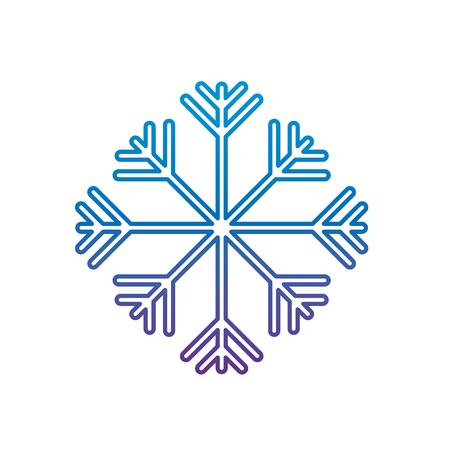 A winter season snow frost vector illustration degrade color image Illustration
