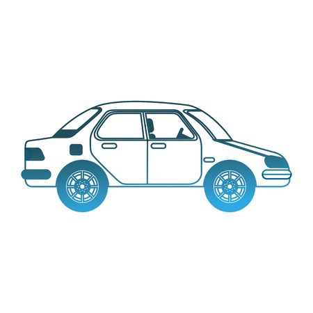 Car vehicle transport sedan icon vector illustration