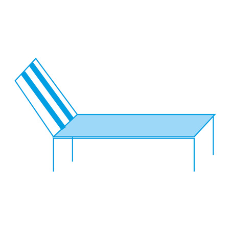 Beach sun lounger chair comfort vector illustration
