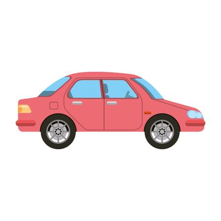 Red sedan car icon.