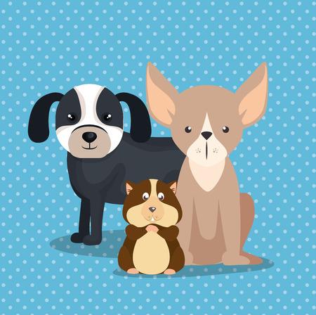 Animaux mignons animaux pépinière icônes illustration vectorielle Banque d'images - 97485261