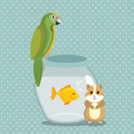 Animaux mignons animaux pépinière icônes illustration vectorielle Banque d'images - 97485263